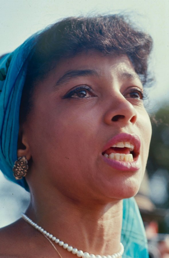 "life:  Not originally published in LIFE: Actress and activist Ruby Dee, who with her husband, Ossie Davis, served as ""master and mistress"" of ceremonies at the March on Washington for Jobs and Freedom, August 28, 1963. See more photos here.  i remember when Ossie Davis was in the l word"