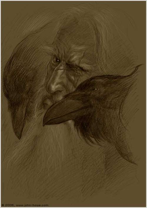 "nattugle:  Hugin and Munin sharing their secrets with Odin. Hugin (from Old Norse ""thought"") and Munin (Old Norse ""memory"" or ""mind"")"