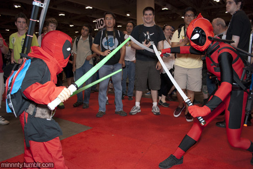 Kidpool and Deadpool(s) at Fan Expo 2012