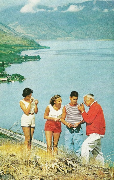 vintagenatgeographic:  Lake Chelan in Washington State National Geographic | April 1960