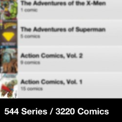 As of last weekend, my new total. #comics #geeklife #collection (Taken with Instagram)