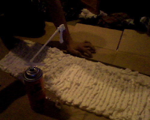 leifal:  nor3gret:  what have i done. i just made a giant rectangle of foam.   btw is that stuck to your arm?  noo thats on the end of the straw XD
