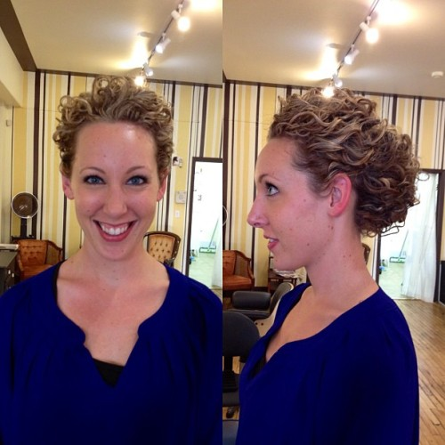 Test run! #curls #curly #wedding #upstyle #updo #curlygirl #curlyhair  (Taken with Instagram at The Hive Salon)
