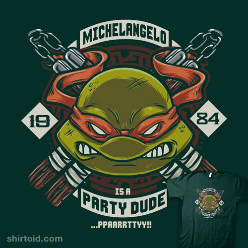shirtoid:  Mikey is a Party Dude available at RedBubble