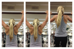 fuck-yeah-fitness:  brainsbrawnandblonde:  Pull-ups like a boss…  My goal for this year (and chin ups)