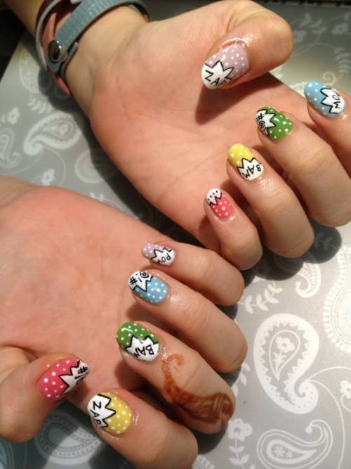 Probably the best nail art ever. By Kim.