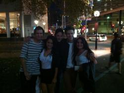 April and Me with some of the guys from 'What About Tonight' :)