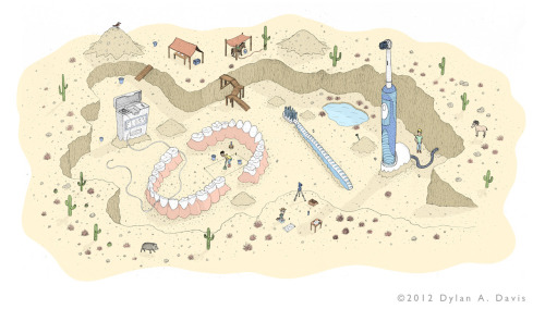 This illustration of mine was just selected to be published in CMYK Magazine #54!  I believe it will come out in early October, possibly late September..Also, a link to the page for this illustration on my website (where there are detail shots):http://dylandavisart.com/illustration_dental_artifacts.html