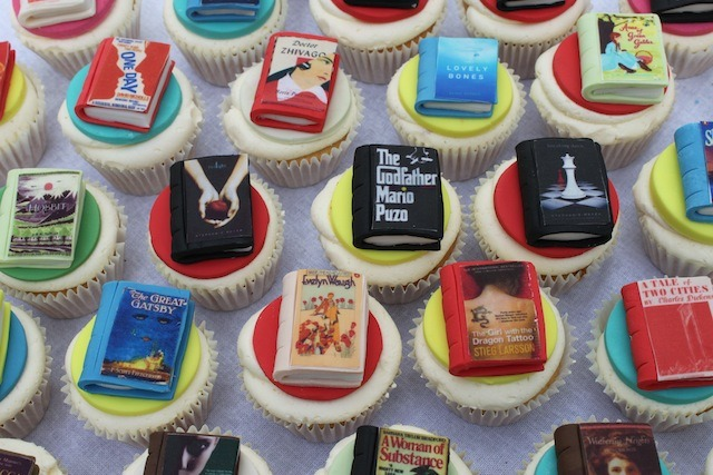 Books as Cupcakes: I feel like there's a taste-related pun to be made here, but I'm all punned out from a day at the office.