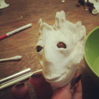 More dryad head. About done. on Flickr. I've been modding a Liv doll (essentially a department store ball jointed doll) with paper clay. I'm making a dryad. This is the head so far. I'm sculpting it from scratch.