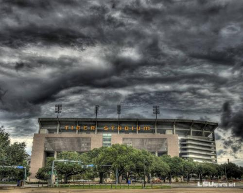 Hurricane Isaac chilling out over Tiger Stadium… c'mon man clear out we got a game to win on Saturday.  It's finally football season. I've been waiting on this all year. :/