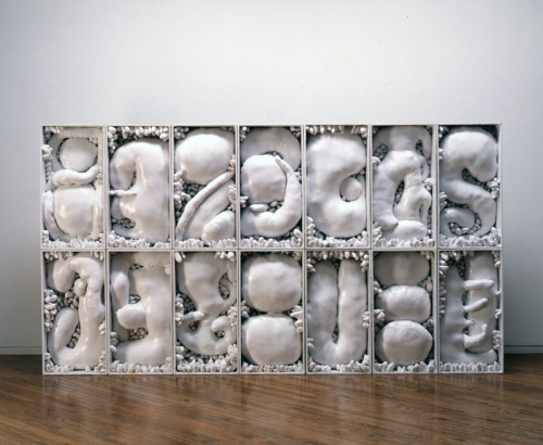 Yayoi Kusama (b. 1929) Leftover Snow in the Dream, 1982. Plasticine, wood, and paint, 70 9/16 × 130 11/16 × 8 3/4 in.Image courtesy Yayoi Kusama Studio Inc.