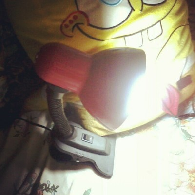 Thanks Mommy for my cutie lil' lamp shade. I love you. (Taken with Instagram)