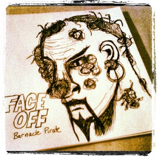 Face Off Inspired Barnacle Pirate drawn watching tonight's episode. (Taken with Instagram)