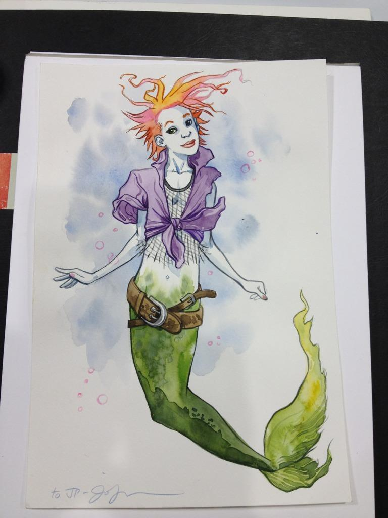 Jill Thompson sketch of Delirium from a sketch at Fan Expo. (via her twitter feed)