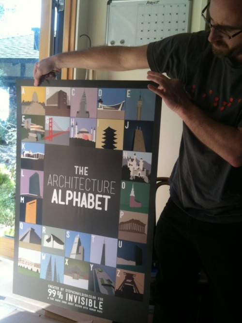 "99percentinvisible:  Stephen Wildish's ""The Architecture Alphabet"" arrived from the printer today! The first set goes out in mid-September to all the amazing Kickstarter backers."
