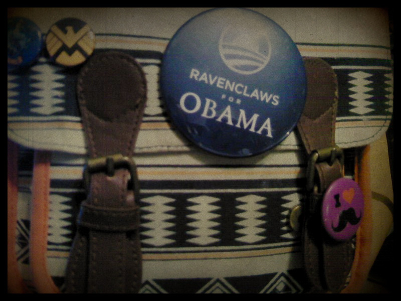 barackobama:  ohheyitsripley:  nerdy + political = one awesome button.  This computes. (Rimshot?)