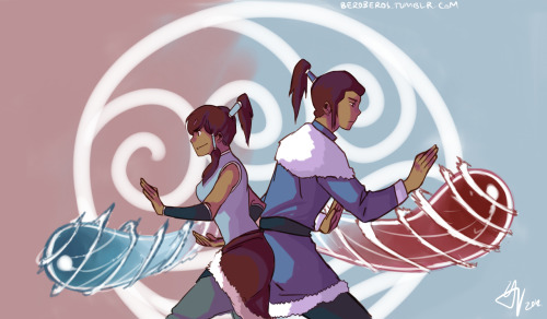 beroberos:  Commission of Korra & Noatak for karuku Hope you like it 8)