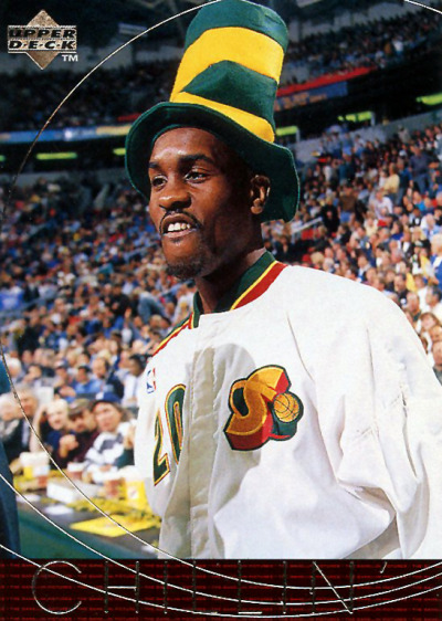 Gary Payton with a sweet hat.