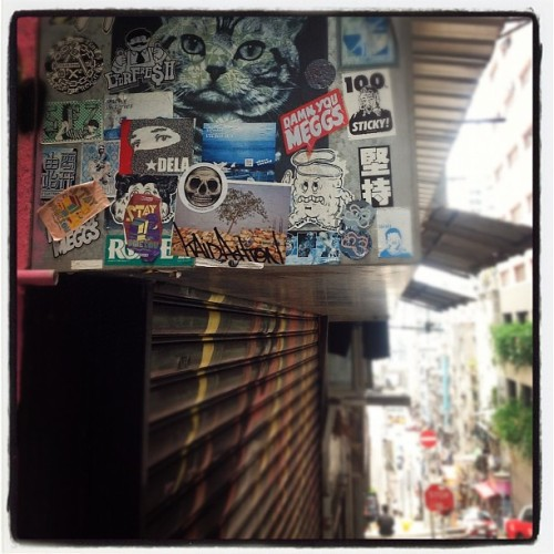 #hongkong #mass #markgoss #sticker #streetart  (Taken with Instagram)