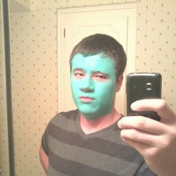 My gf makes me do a clay mask every week. Smells good. Plus I'm blue and I'm a dee-ba-do-di (Taken with Instagram)