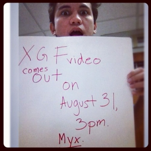 Excited na sa Friday!!!:)) (08/31/12) XGF on MYX 3pm.PHOTO by: @yaelyraz♥♥♥