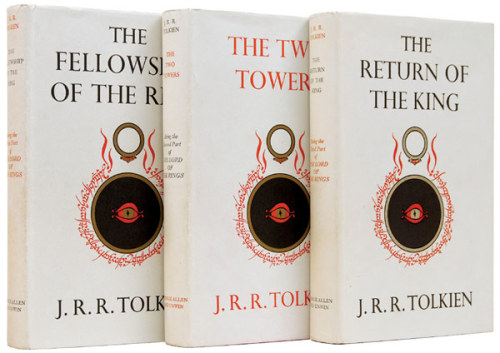 First Edition Covers The Lord of the Rings, by J.R.R. Tolkien. George Allen & Unwin Ltd., 1954-1955. Cover design by J.R.R. Tolkien.