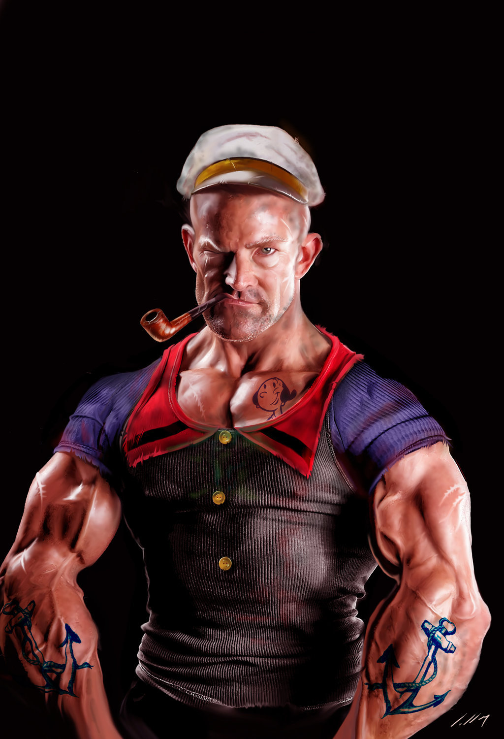 Hyperreal Popeye artwork by Unknown Artist.