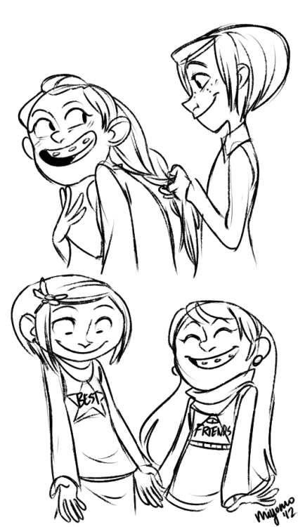 puddingseductress:  best gal pals i can't stop drawing these guys help me