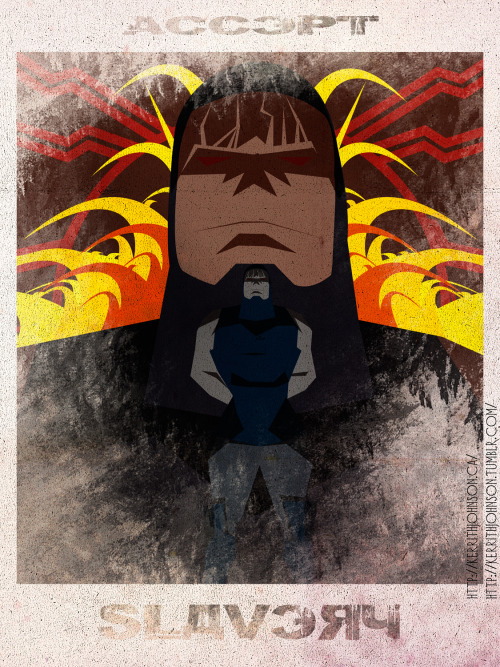 """Accept"" series: Keeping Villains iconic but nefarious. Spotlight: Darkseid! Darkseid is the perfect example of the ""Accept"" Series, a representation of everything evil a villain does and that needs to be fought against. Its no wonder in the modern continuity Superman who wants Justice and Freedom for all is constantly put up against him. He is a great villain though, Just like Dr.Doom and Magneto he just 'knows' he is right in everything he does. Kerrith - Hiding the antilife equation  My Tumblr