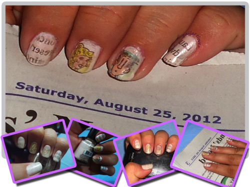 First decent newspaper nails.  +art