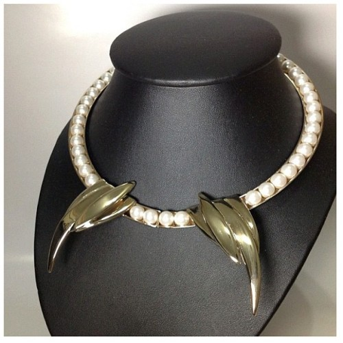 Maryam Keyhani - Barbet #necklace #gold #pearl #fashion #instagood #instamood #instadaily #instagramers #instagramhub #instafashion #igers #ignation #igsg #sgig #hideandseeksg #statigram #tweegram #webstagram #brunika #jj #picoftheday #bestoftheday #all_shots #maryamkeyhani available @hideandseeksg  (Taken with Instagram)