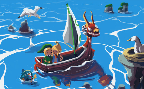 Wind Waker love by Tehkiah Via: sollybot | ellie-noire