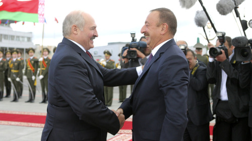 "Belarusian President Alyaksandr Lukashenka and Azerbaijani President Ilham Aliyev speaking Tuesday (August 28) during a meeting in front of the media in Minsk.  ""You have come to a very friendly country where you are loved and respected for the great deeds which you have done — sometimes not standard ones — to support our country in hard times, connected with the issues of our state independence. Not only I personally know it and appreciate it very much, but the Belarusian people know it as well,"" said Lukashenka.   And Aliyev responded…  ""I'm glad to visit your wonderful country again and to have an opportunity to discuss the issues on the vast agenda of our bilateral relations again. Before we start discussing the issues in particular, I want to express our attitude to your country, to your people, which is based both on historic roots and friendly feelings."""