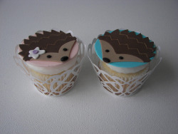 whatswithwaltdysney:  Hedgehog Cupcakes by death by cupcake on Flickr.