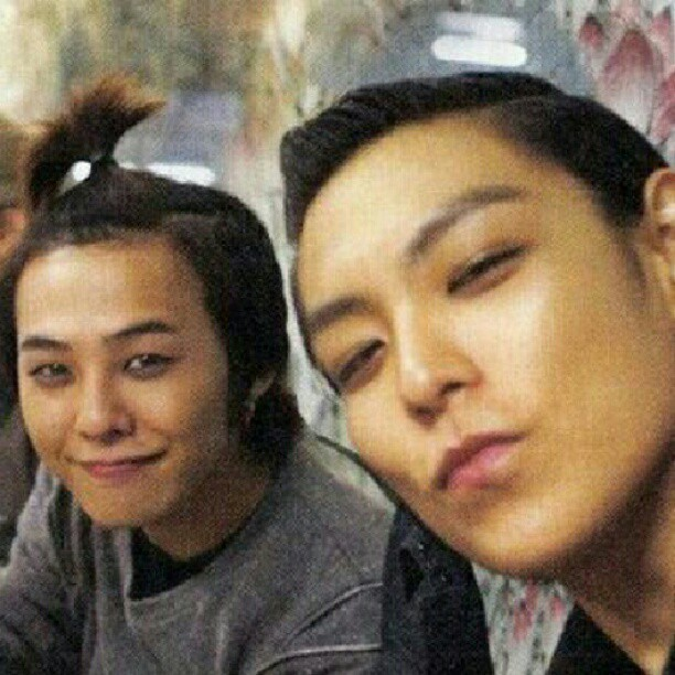 top-oppa:  ismigd:  Cuteee GTOP :3  GD's hair is too adorable :D
