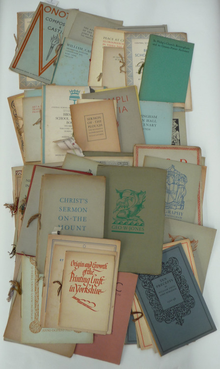 biblioguerilla:  Samples from the Birmingham School of Printing Up for Auction at Tennants, 4 September