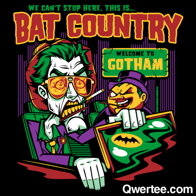 "qwertee:  Just 12 hours remain to get our Last Chance Tee ""Bat Country"" on www.Qwertee.com/last-chance Get this great design now for £10/€12/$14 before it's GONE FOREVER! Be sure to ""Like"" this for 1 chance at a FREE TEE this weekend, ""Reblog"" it for 2 chances and ""Follow"" us for a 3rd chance (if you're not following us already:) Thanks as always!"""