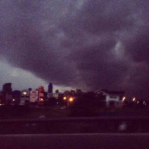 Ortigas. Heavy Dark Clouds. (Taken with Instagram)