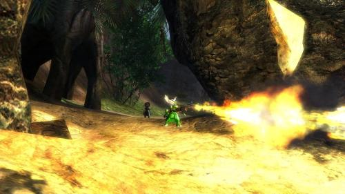 Today in Guild Wars 2, My Asuran Engineer discovered the Flamethrower… PLAYING WITH FIRE FTW!