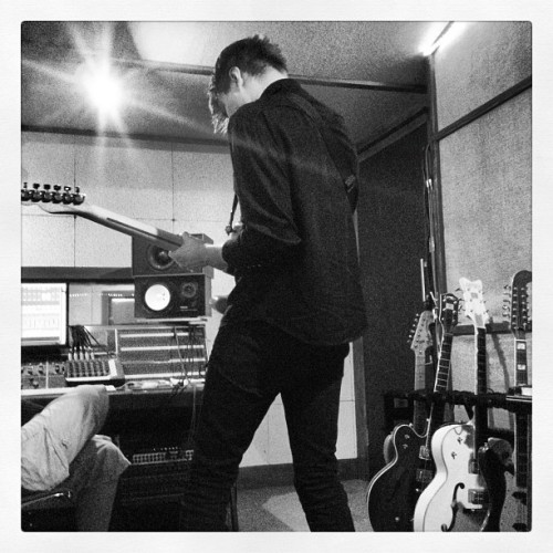 Just started recording guitars  (Taken with Instagram)