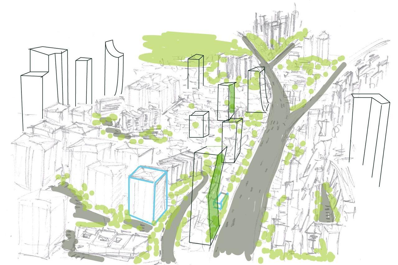 Future design prototype sketch for Sao Paulo, Brazil