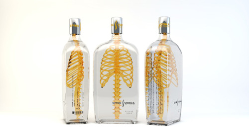 kreepylady:  Spine Vodka! Just a concept so far. http://johannes-schulz.com/portfolio/spine-vodka/