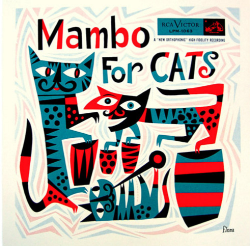 Mambo For Cats, art by Jim Flora.