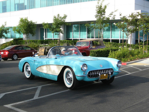 1956 Chevrolet Corvette by Bob the Real Deal on Flickr.Via Flickr: RODS on the BLUFF - firday night cruise - Riverview  California