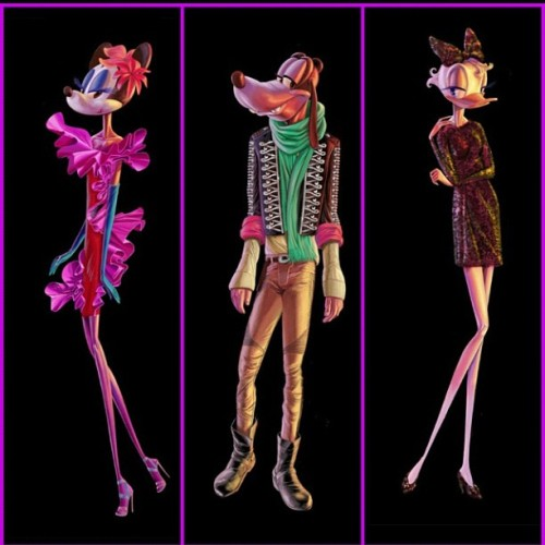 Barney's x Disney: Minnie Mouse in Lanvin, Goofy in Balmain & Daisy Duck in Dolce & Gabbana. DISCUSS. #repost  (Taken with Instagram)