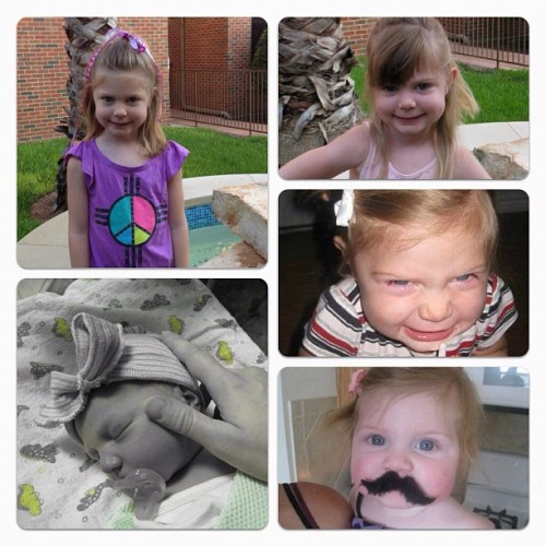 Happy 4th Birthday to my baby girl! I can't believe how the time has flown. I wish it would SLOW down!! #joysofparenthood  (Taken with Instagram)