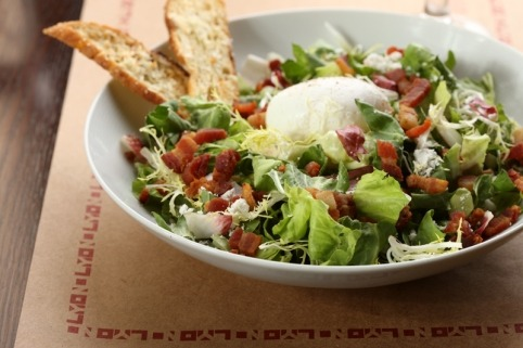 Salad Lyonnaise; a lunch time special from the city of Lyon.