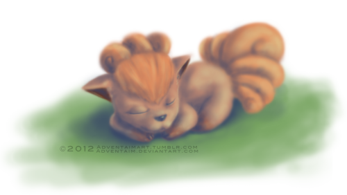 Feeling a little nostalgic again. Pokemon this time.Vulpix speed paint (Does it qualify as speed paint if it was made in 2 hours?)