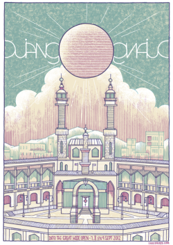 Nice Django Django poster for their upcoming performance at Into the Great Wide Open  [via http://bit.ly/Tu6DV4]